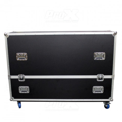 Pro X Flat Screen TV Road Case Holds Two 70