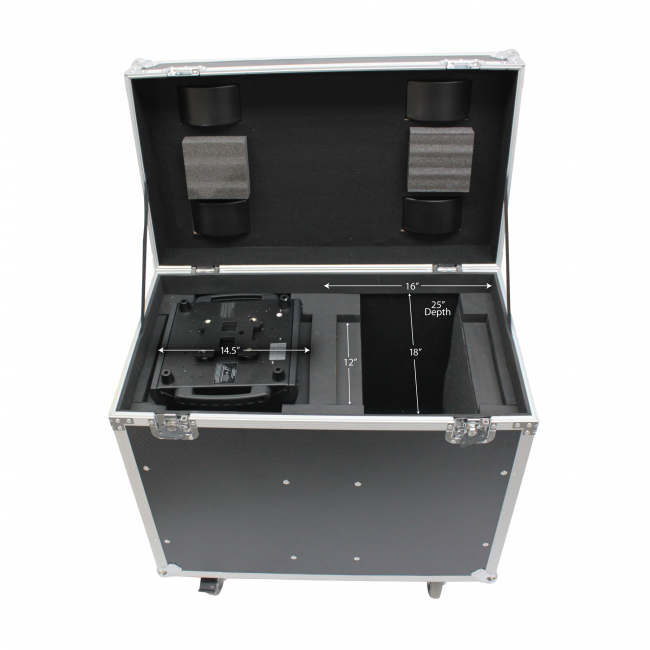 Pro X Flight Case for Two 250 Style 5R, 7R Moving Head Lights, Universal