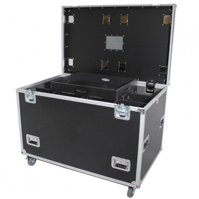 Pro X Medium Size Heavy-Duty Truck Pack Utility Flight Case W-Divider and Tray Kit - XS-UTL483036W