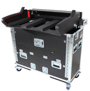 Pro X Detachable with 2U under console Retracting Hydraulic Lift Case for Allen and Heath DLive S5000