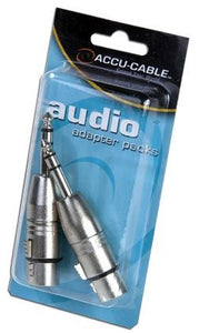 "Accu-Cable Female 3 pin XLR to Male 1/4"" Adapter"