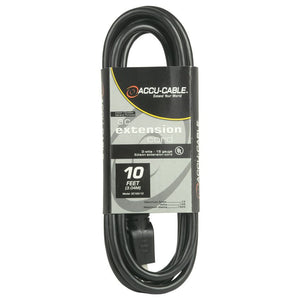 Accu-Cable 10' Power Extension Cord