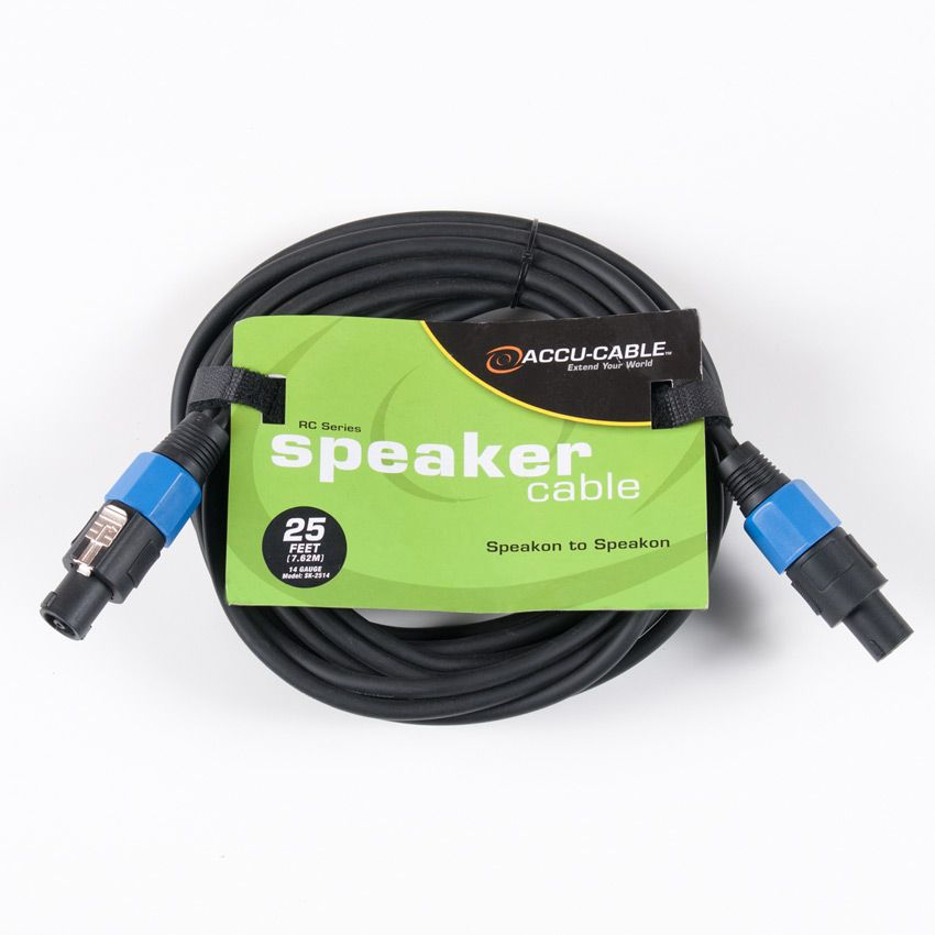 Accu-Cable 25' Speakon to Speakon Cable (14 Gauge)