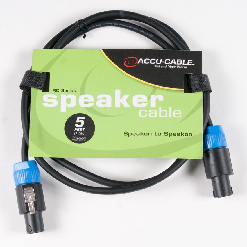 Accu-Cable 5' Speakon to Speakon Cable