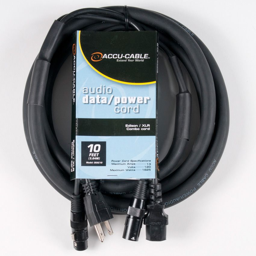 Accu-Cable 10' XLR & AC Cable