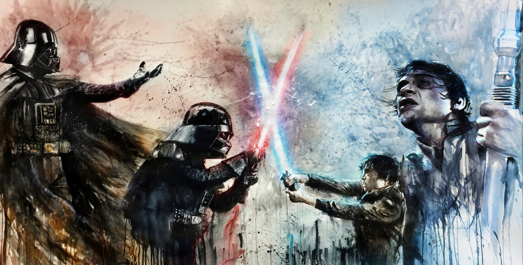 Darth Vader vs Luke Skywalker 15x24