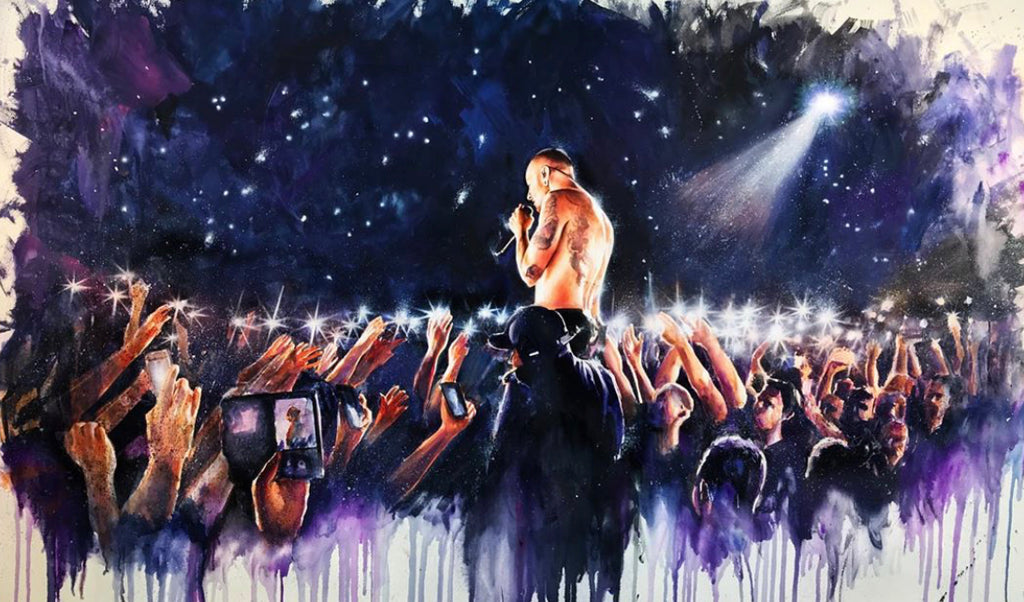 Linkin Park Chester 15x24
