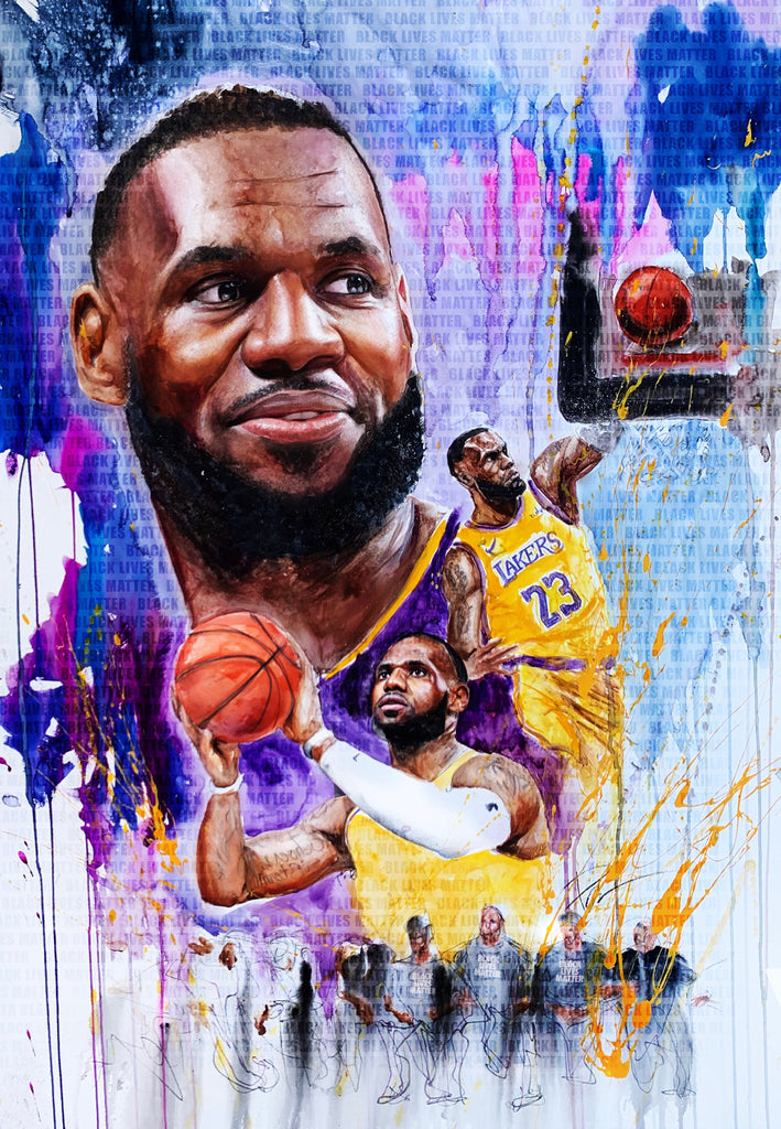 LeBron James 13x19