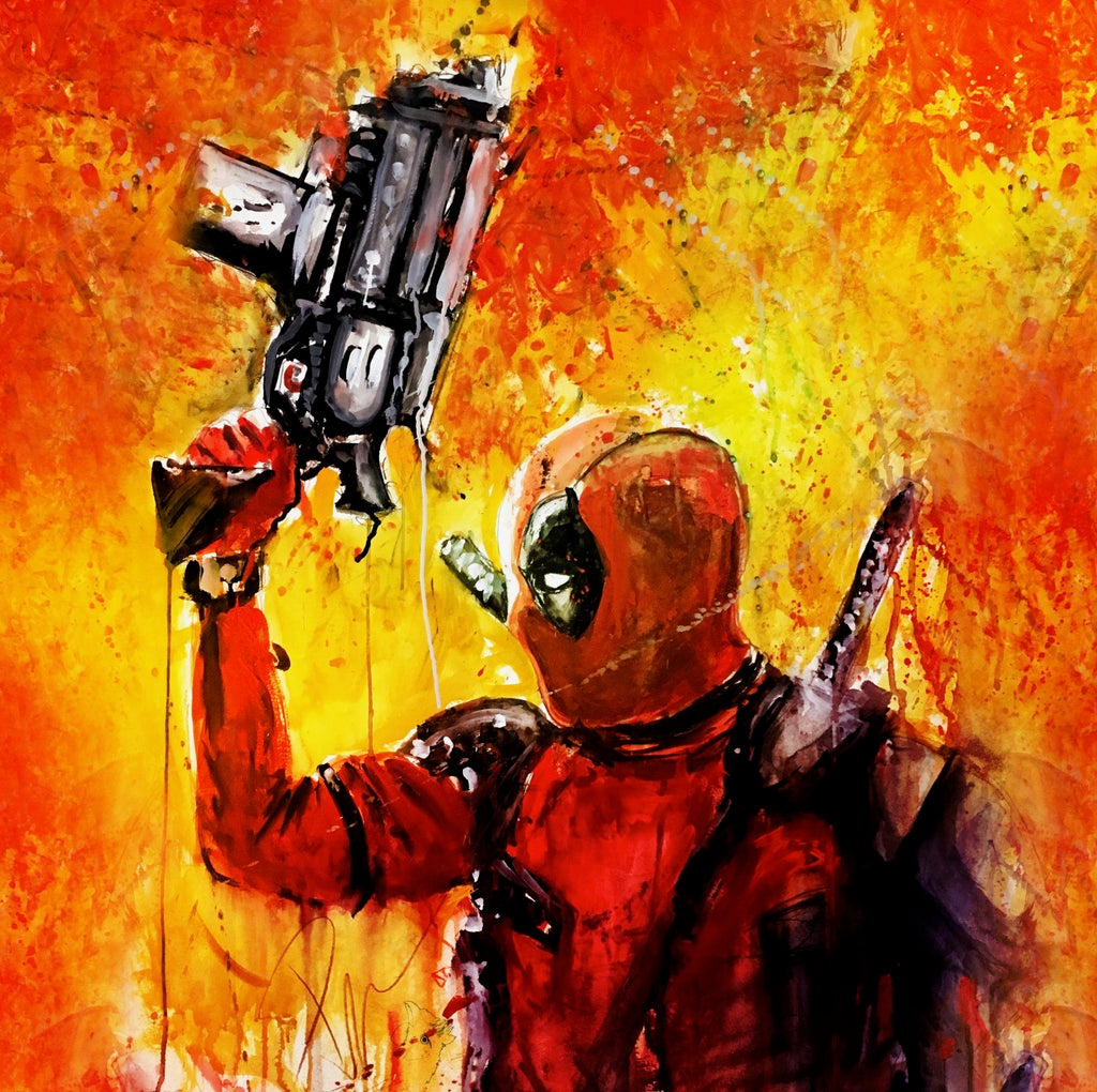 Deadpool arm up
