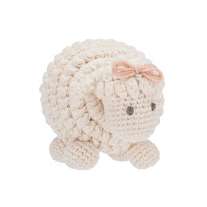 Sheep Knitted Rattle Toy