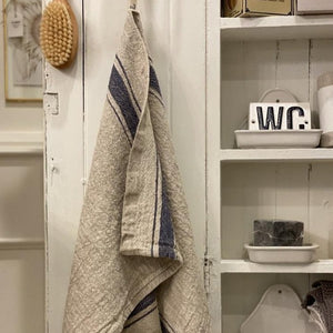 Blue Stripe Vintage Towels