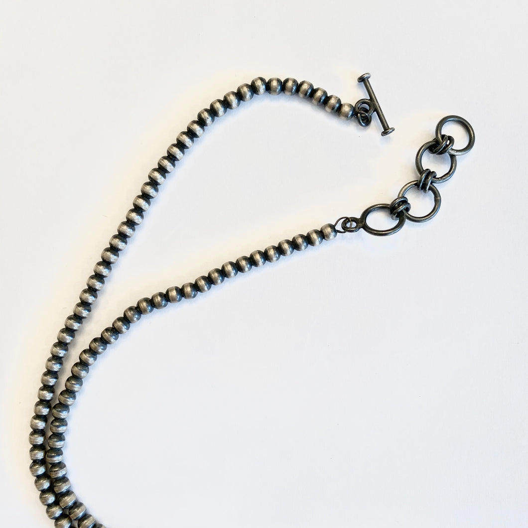 Sterling Silver Bead Necklace (X-Small Bead)
