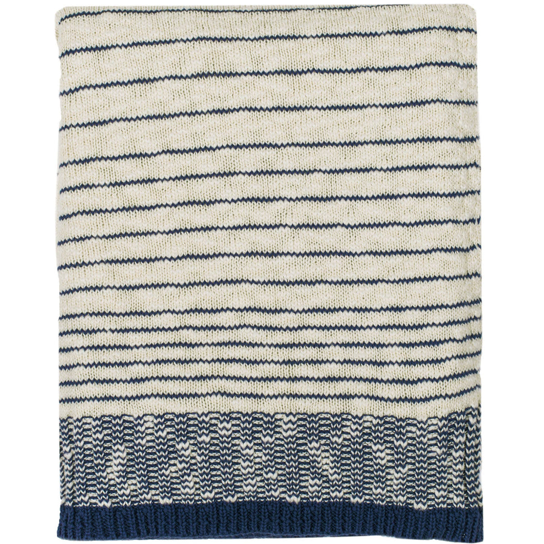 Casa Knit Cotton Throw Blanket
