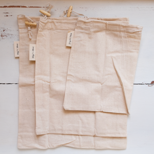 Cotton Muslin Bulk Shopping Bags 3-Pack