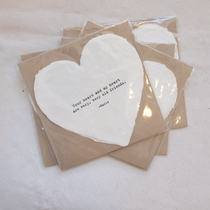 Large Deckled Heart Shaped Cards
