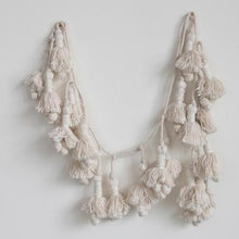 Load image into Gallery viewer, Handwoven Cotton Tassel Garland