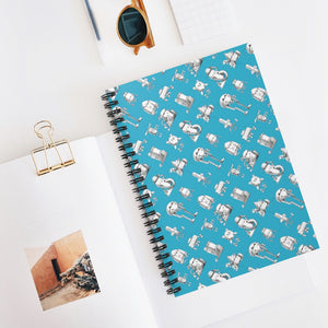 Robotzzz - Spiral Notebook - Ruled Line - VoodooFoxStore