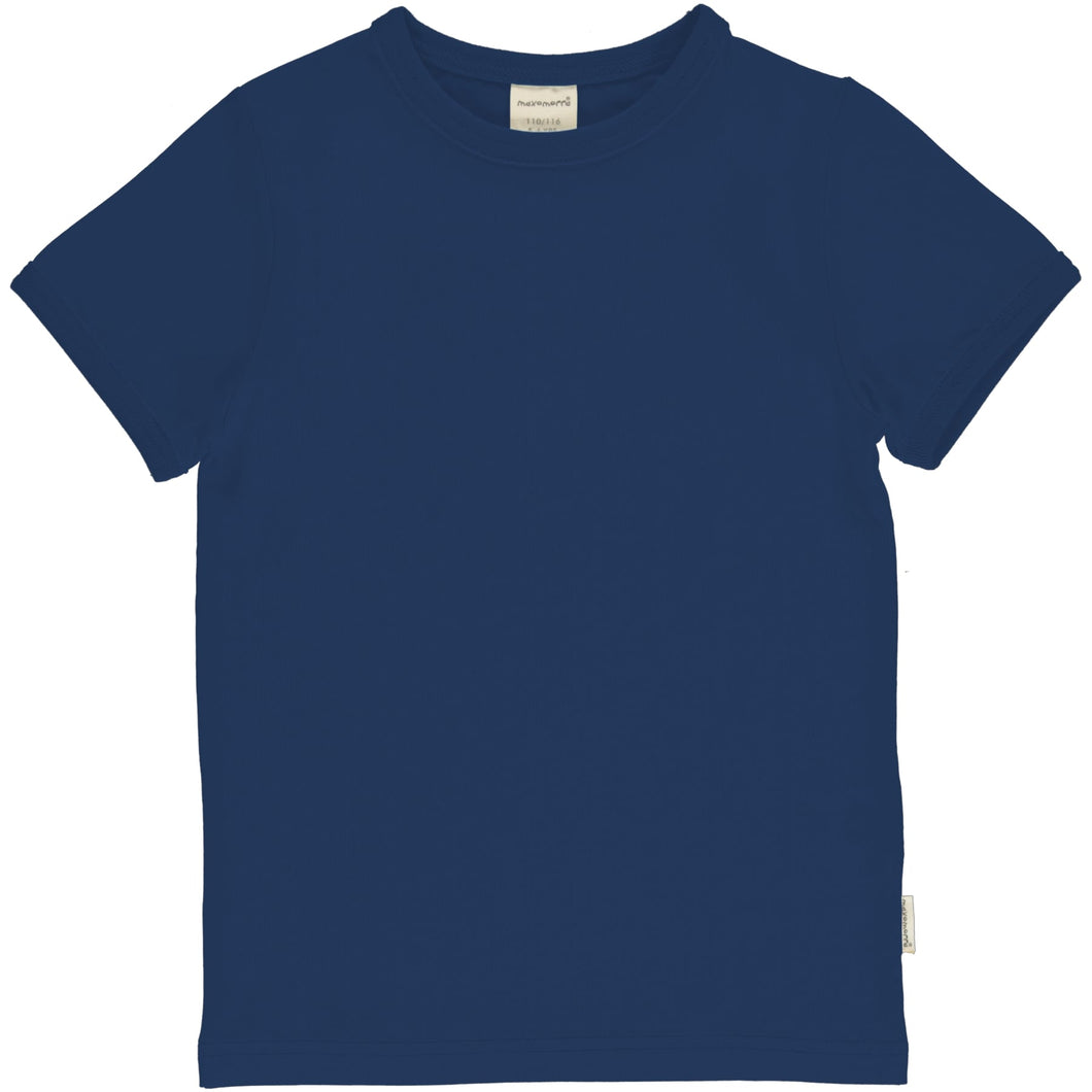 Maxomorra - Short Sleeve Top - Navy