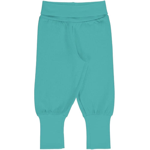 Maxomorra - Rib Pants - Aqua