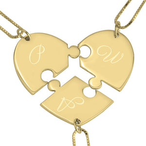 3 Piece Puzzle Necklace