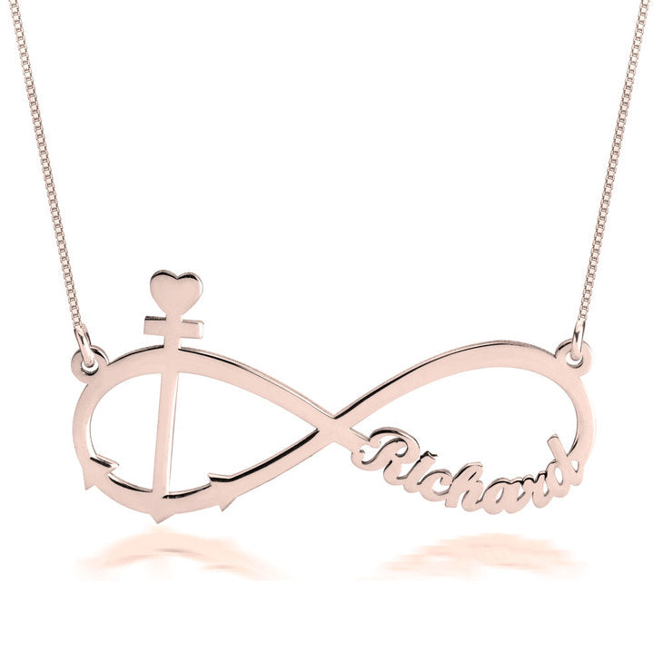 Anchor and Infinity Necklace