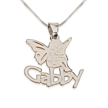Load image into Gallery viewer, Angel Pendant with Name