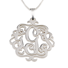 Load image into Gallery viewer, Antique Monogram Necklace