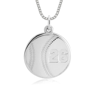 Baseball Number Necklace