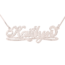 Load image into Gallery viewer, Bianca Line Sparkling Name Necklace