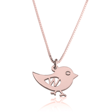 Load image into Gallery viewer, Bird Initial Necklace