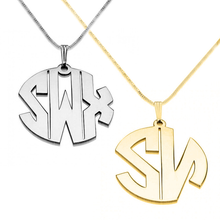 Load image into Gallery viewer, Block Letter Monogram Necklace