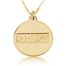 Load image into Gallery viewer, Braille Disc Necklace