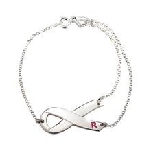 Load image into Gallery viewer, Breast Cancer Ribbon Bracelet