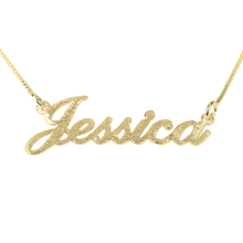 Load image into Gallery viewer, Brushed Name Necklace