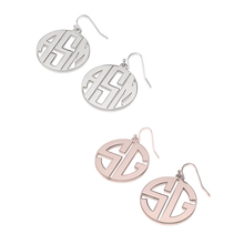 Load image into Gallery viewer, Capital Letter Monogram Earrings