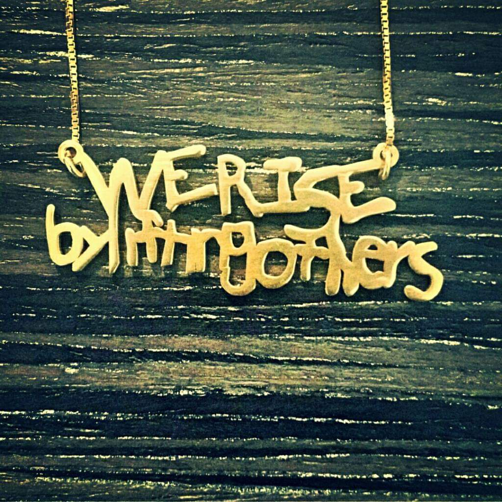 We Rise By Lifting Others Charity Necklace (Gold)
