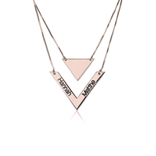 Load image into Gallery viewer, Chevron Necklace With Names