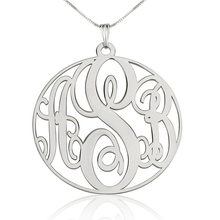Load image into Gallery viewer, Circle Monogram Necklace