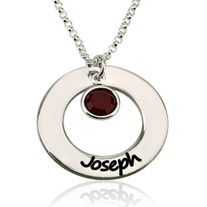 Circle Name With Birthstone