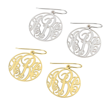 Load image into Gallery viewer, Classic Monogram Earrings