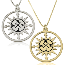 Load image into Gallery viewer, Compass Pendant Necklace