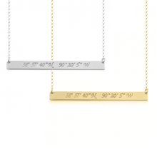 Load image into Gallery viewer, Coordinates Bar Necklace