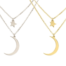 Load image into Gallery viewer, Crescent Moon And Star Necklace