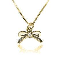 Load image into Gallery viewer, Cubic Zirconia Bow Necklace