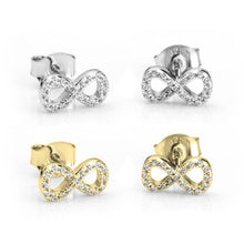 Load image into Gallery viewer, Cubic Zirconia Infinity Earrings