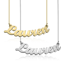 Load image into Gallery viewer, Curved Script Name Necklace