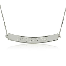 Load image into Gallery viewer, Custom Curved Bar Braille Necklace