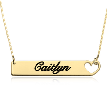 Load image into Gallery viewer, Cutout Heart Bar Necklace