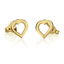 Load image into Gallery viewer, Cut Out Heart Earrings