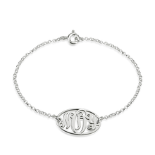 Load image into Gallery viewer, Dainty Monogram Bracelet